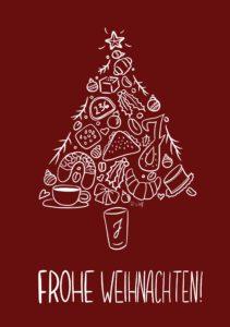 Weihnachtskarte Bäckerei